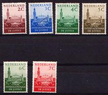 Nederland Dienstzegels 1951 27-32 NVPH Court De La Justice Gebruikt Plakker Used Sticker Oblitere Avec Charniere - Dienstpost