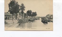 CPA  - TOULOUSE - Le Port St-Etienne - Lavoir - Péniche - Dos Vierge - Toulouse