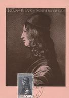 Autore Ignoto - Ritratto Di Giov. Pico Della Mirandola - Maximum Cards