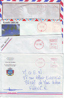 N1. LOT DE 4 LETTRES NOUVELLE CALÉDONIE EMA - NOUMÉA RP - ANNÉES 1990 - Cartas