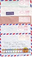 N2. LOT DE 5 LETTRES NOUVELLE CALÉDONIE EMA LSA - NOUMÉA RP - ANNÉE 1990 - Cartas