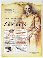 Dominica Dominique 2000 First Flight Zeppelin LZ-1, LZ-10 Schwaben, LZ-7 Deutschland, LZ-4, LZ-11 Viktoria Luize - Zeppelines