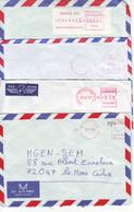 N4. LOT DE 4 LETTRES NOUVELLE CALÉDONIE EMA LSA - NOUMÉA SUD- ANNÉES 90 - Cartas