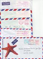 N5. LOT DE 5 LETTRES NOUVELLE CALÉDONIE EMA - DUMBEA POINDIMIE BOURAIL NOUMÉA RIVIÈRE SALÉE- ANNÉES 90 - Cartas