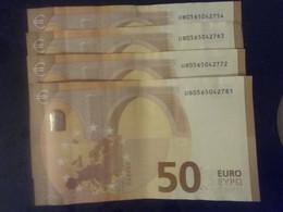 50€ Serie De 4 Suites U027C2 - 50 Euro