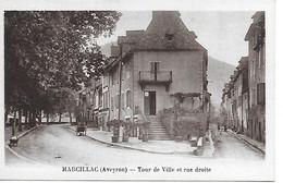12 -  AVEYRON - MARCILLAC - TOUR DE VILLE ET RUE DROITE -  - CPA PARFAIT ETAT - Otros Municipios