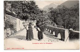 CPA SUISSE - CONTADINE NELLA VAL BREGAGLIA - GR Grisons
