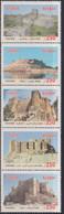ARCHITECTURE, 2020, MNH, CASTLES, 5v - Castillos