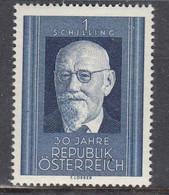 Austria 1948 - 30 Jahre Republik: Karl Renner, Bundespraesident, Mi-Nr. 927, MNH** - 1945-60 Unused Stamps