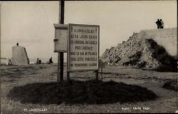 CPA Courseulles Sur Mer Calvados, Circuit Des Plages Débarquement, Plaque Commémorative - Other Municipalities