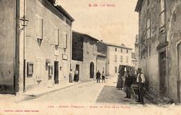 Aigne - Porte Et Rue De La Mairie - Sin Clasificación