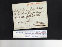 CG8 - Lettera Da Campino Per Novara 17/7/1819 - Annullo Di Arona - ...-1850 Préphilatélie