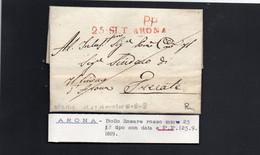 CG8 - Lettera Da Arona Per Trecate  25/9/1819 - Annullo Di Arona - ...-1850 Préphilatélie