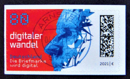 "Bund/BRD Februar 2021 Skl Sondermarke ""Digitaler Wandel"" MiNr 3592 Aus Folienblatt 104, Ersttagsgestempelt - Gebraucht"
