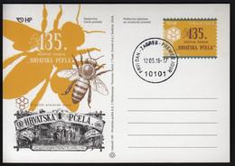"Croatia 2016 / ""Croatian Bee - Hrvatska Pcela"" Magazine 135th Anniversary / Postal Stationery - Kroatien"
