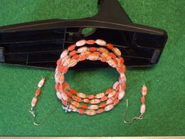 Bracelet 4 Coils Et Boucles D'oreilles, Fait Avec Un Chapelet Endomagé - Non Classificati