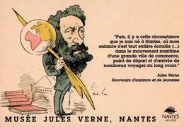 CPM - Jules VERNE - Musée De NANTES … Edition Pub - Ecrivains