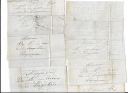 1868 COLLIOURE - FRANCES FRANCOIS POUR M. BES MARCHAND DE CUIRS RUE DE L ARGENTERIE A PERPIGNAN - 7 LETTRES L.A.S. - Historical Documents