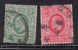 EAST AFRICA & UGANDA Scott # 32-3 Used - KEVII - Protettorati De Africa Orientale E Uganda