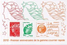 France. Bloc No F4687.1er Anniversaire Gamme Courrier Rapide.année 2012.n** - Mint/Hinged