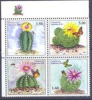 2018. Tajikistan, Cactuses And Butterflies, 4v, Mint/** - Tadschikistan