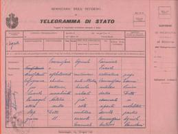 COMUNE Di Premilcuore - Commissario Agricolo Comunale - Telegramma Di Stato - Inviato Per Militare Addetto Alla Trebbiat - Documenti Storici