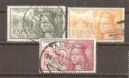 España/Spain-(usado) - Edifil  1097-99 - Yvert  Aéreo 250-52 (o) - Oblitérés