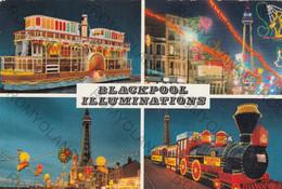 CARTOLINA    BLACKPOOL ILLUMINATIONS,VIAGGIATA 1978 - Mundo