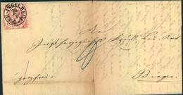 """1862, Brief Mit Kabinettstück 3 Kreuzer Karmin Ab """"OBER-INGELHEIM Nach Bingen - Thurn And Taxis"""