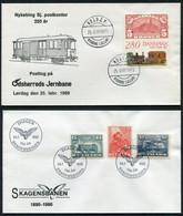 1989/90 Denmark X 2 Railway Train Covers. Skagen Nykobing Postkontor. - Cartas