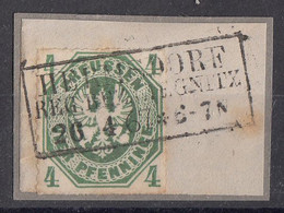 Preussen Briefstück Minr.14 R3 Hermsdorf Reg. Bez. Liegnitz 26.4.67 - Preussen (Prussia)