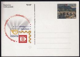 Croatia 2001 / HAFNIA 01 World Philatelic Exhibition / Oton Postruznik, Bridge, Horse / Postal Stationery - Croazia