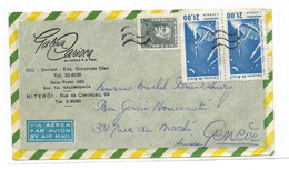 BRESIL Oblitération Poste Aerienne Sur Lettre - Otros