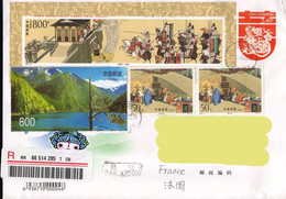 China 2010, Nature / Warriors / Guerriers / Sick Person / Malade On A Circulated Cover - Environment & Climate Protection