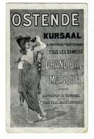 Oostende  Ostende  Kursaal Tous Les Samedis Grand Bal Masqué  Edit J.F.B. - Oostende
