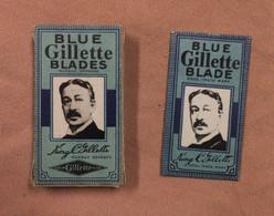 étuit Et 1 Lame De Rasoir Gillette Dans Son Emballage. Blue Gillette Blade. King Gillette - Lamette Da Barba