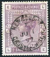 Timbre Grande Bretagne 2 Shilling 6 Pence Lilas SG178 Papier Blanc Filigrane Ancre - Used Stamps