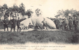 Brasschaat Kamp Van Brasschaat Apres Le Tir : Le Ballon Crevé Par Les Shrapnels Luchtballon Anno 1906   M 6948 - Brasschaat