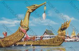 CARTOLINA   BANGKOK,TAILANDIA,THE SUPANNAHONGSE AND ANANTA-NA-GARAJ,THAI ROYAL STATE BARGE,VIAGGIATA 1967 - Thaïlande
