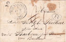 Pli Du 1/10/1837 Chaux-de-Fonds Pr Le Barboux Doubs Entrée Pontarlier Distribution Rurale Par Le Russey Réexp Besançon - 1801-1848: Précurseurs XIX