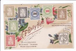 C.F. Bally Hijos - Sucursales - BUENOS-AIRES MONTEVIDEO - Fabrica De Calzado SCHOENENWERD.... - Briefmarken (Abbildungen)