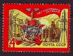 USSR 1971. 54th Ann. Of Great October Revolution. MNH. Mi. Nr. 3938. - Nuevos