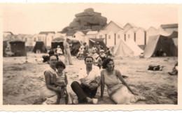 1933 PHOTO TREBEURDEN PLAGE DE TRESMEUR LES ROCHES BLANCHES CABINES DE - Places