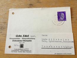 K15 Deutsches Reich 1941 Karte Von Deidesheim - Lettres & Documents