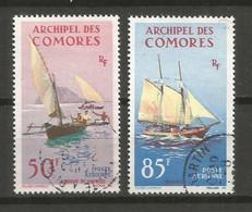 Timbre De Colonie Française Comores P-a  Oblitéré N 10 /11 - Poste Aérienne
