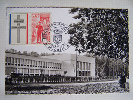 FRANCE CREIL 6 MAI 1972 EXPOSITION PHILATELIQUE LIBERATION - Gebraucht