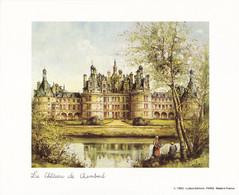 Carte 19X15.5 CM Château De Chambord (carte Vierge) - Castles