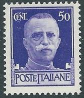 1929-42 REGNO IMPERIALE EFFIGIE 50 CENT MH * - RB32 - Ongebruikt