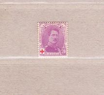 1914 Nr 131a* Met Scharnier:de 2 Parels Onder Krul Rechts Zijn Verbonden.Rode Kruis.OBP 20 Euro. - 1914-1915 Red Cross