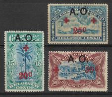German East Africa Under Belgian Occupation 1918, 3 Semi-Postal Stamps, A.O. (Afrique Orientale). Scott NB3,NB4,NB6. MH. - Colony: German East Africa
